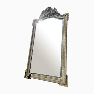 Grand Miroir Doré et Gesso Antique, France, 1850s