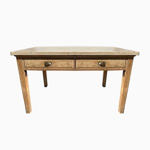 Antique French Marble Double Sided Table