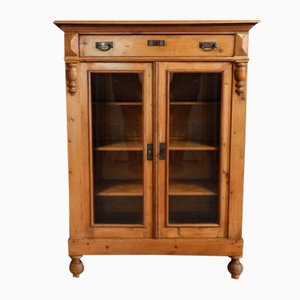 Antique Cabinet with Glass Doors