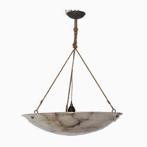 Große Art Deco Marmor Deckenlampe