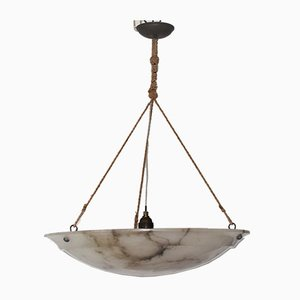 Large Art Deco Marble Ceiling Lamp