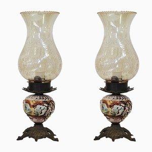 Lampes de Bureau de Capodimonte, 1950s, Set de 2