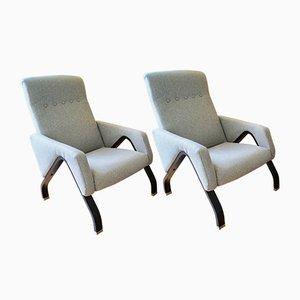 Italienische Mid-Century Sessel im Stil von Ico Parisi, 1960er, 2er Set