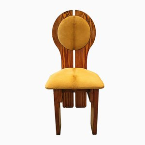 Hungarian Organic Design Ponyskin Upholstered Studio Craft Chair, 1970s