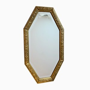 Art Deco Octagonal Gilt Mirror, 1930s