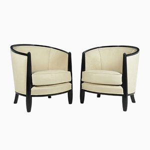 Art Deco Lounge Armchairs by Paul Follot, Set of 2