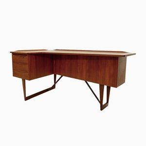 Teak Boomerang Desk by Peter Løvig Nielsen for Hedensted Møbelfabrik, 1969