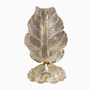 Art Deco Murano Glass Table Lamp from Barovier & Toso, 1930s or 1940s