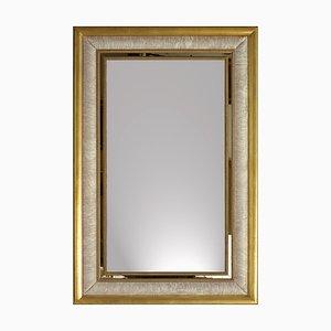 Soffio Di Seta Mirror with Porcelain & Wood Frame