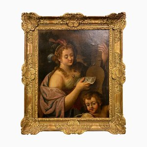 Italian Louis XVI Painting, Allegory of Music, Oil on Canvas