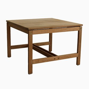 Tavolino da caffè vintage in quercia di Soren Holst per Fredericia