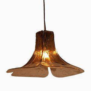 Grande Lampe à Suspension Pétale de Fleur en Verre de Murano par Carlo Nason pour Mazzega