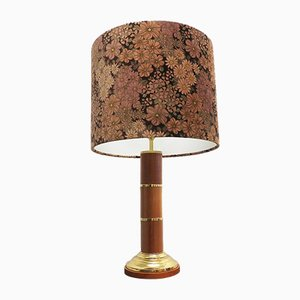 Large Floral Patterned Table Lamp from Wilhelm Knoll, 1960s
