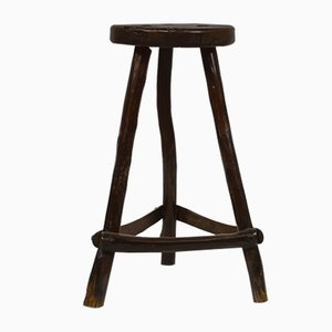 Rustic French Stool, 1950s