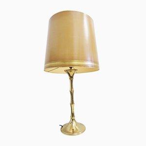 Lampada da tavolo grande in bambù di Ingo Maurer, anni '70