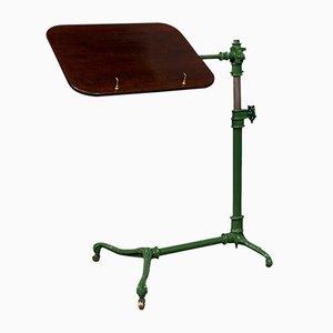 Antique English Edwardian Adjustable Mahogany Reading Stand or Music Lectern