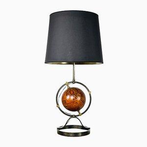 Tischlampe mit Globus, 1950er
