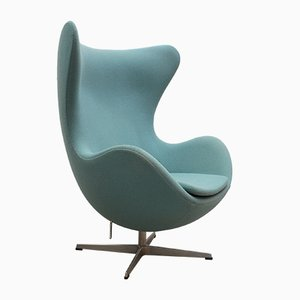 Turquoise Egg Chair by Arne Jacobsen for Fritz Hansen, 2000s