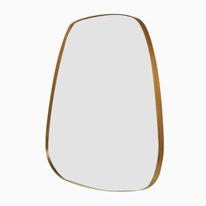 Vintage Freeform Brass Rearview Mirror