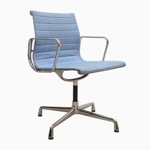 Chaise de Bureau EA108 Alu Bleue Multicolore par Charles & Ray Eames pour Vitra, 2000s