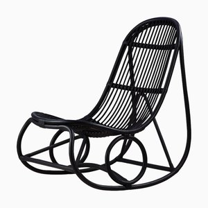 Rattan Rocking Chair by Nanna Ditzel, 1950s