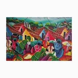 Caribbean Framed Painting, 2000s