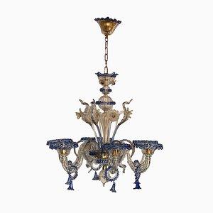 Venezianischer Kronleuchter aus Muranoglas, Italien 1950er