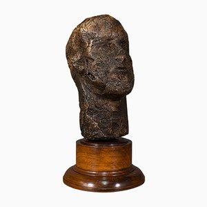 Antique Male Bust, Plaster, 1860s