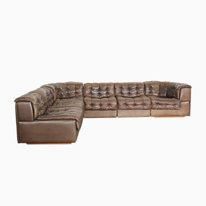 Patchwork Leather Modular DS 11 Sofa from de Sede, 1970s, Set of 6