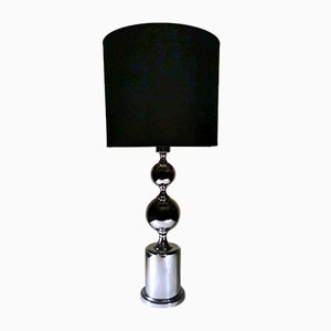 French Modern Steel Table Lamp in the Style of Philippe Barbier