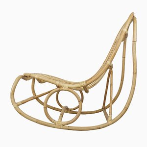 Danish Rattan Rocking Chair by Nanna Ditzel, 1950s