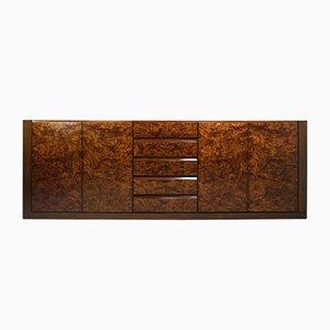 Vintage Sideboard aus Nuss- und Wurzel- Nussholz