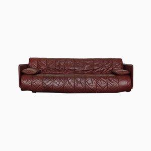 Sofá cama vintage de retales de cuero de de Sede