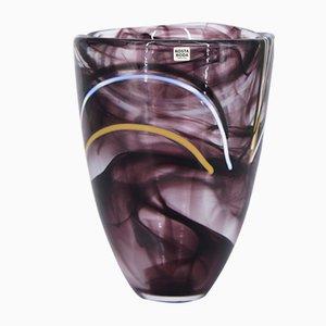 Mid-Century Scandinavian Glass Contrast Vase by Anna Ehrner for Kosta Boda, 1980s