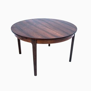 Danish Round Rosewood Dining Table, 1960s