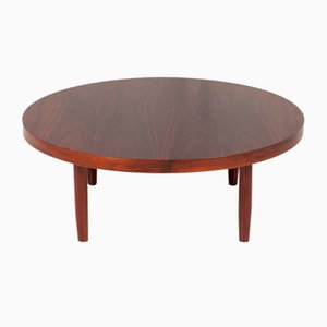 Mid-Century Danish Round Palisander Coffee Table