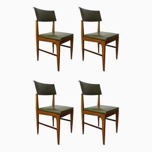 Teak & Metal Dining Chairs, 1950s, Set of 4