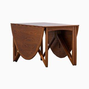 Danish Oval Teak Drop-Leaf Table by Kurt Østervig for Jason Møbler, 1962