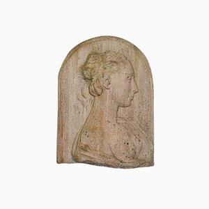 Antique Italian Victorian Female Masque Relief Bust, 1900s