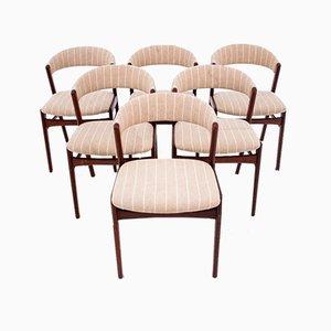Danish Chairs, 1960s, Set of 6
