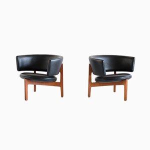 Danish Tripod Lounge Chairs by Sven Ellekaer for Christian Linneberg, 1962, Set of 2