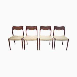 Dänische Stühle von Niels Otto Møller, 1960er, 4er Set
