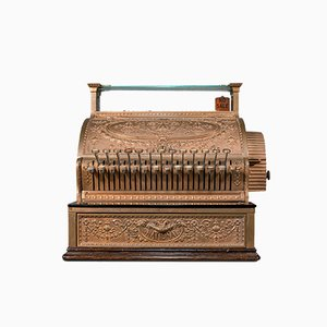 Antique American Edwardian Bronze Countertop National Cash Register