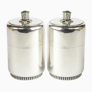 Silver Jars by Tore Eldh for Ceson, Set of 2