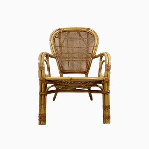 Italian Rattan Chair, 1970s