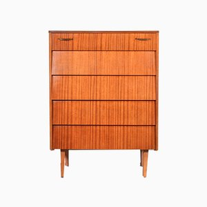 Mid-Century Teak & Brass Chest of Drawers from Avalon, 1960s