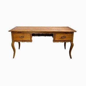 Biedermeier Curved Cherry Desk, 1840s
