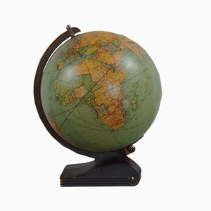 American Art Deco Illuminated Globe by Replogle Globes Inc, Chicago, 1930s