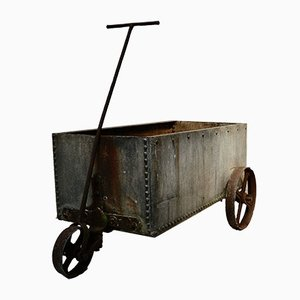 Large Mobile Galvanised Riveted Water Tank Planter
