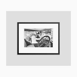 Impresión The Great Race Archment enmarcada en negro de Bettmann